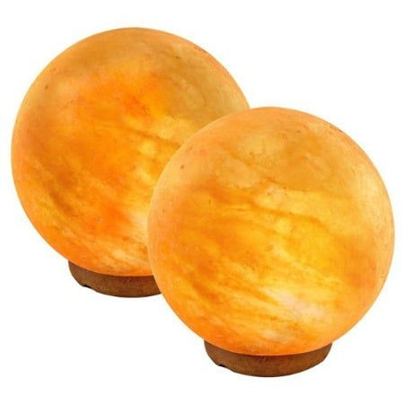 Crystal Allies Gallery: CA SLS-GLOBE-12cm Natural Himalayan Globe Salt Lamp